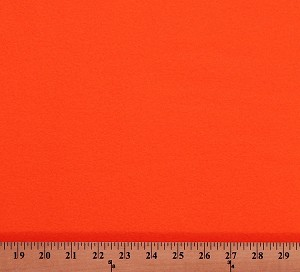 Fleece (not for masks) Bright Orange Solid Color Fleece Fabric Solid by the Yard (5151F-1B-orange)
