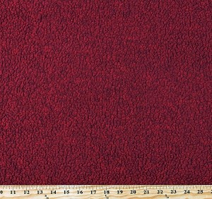 "Berber Sherpa Malden® PolarTec® Fabric by Malden Mills Burnt Red Heather 60"" Wide Double-Faced Reversible 2-Sided Fleece Fabric by the Yard (6595P-12B-red)"