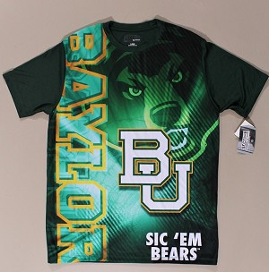 Shirt - Baylor Bears Baylor University Green T-Shirt Size Large - New (M420.02)