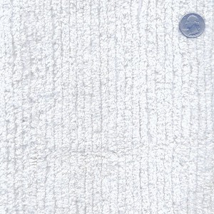 Cotton Terry Chenille Fabric by the Yard - White (TC0501-596)