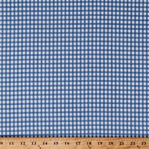 Cotton Light Blue Gingham Checks Checkers Checkered Backyard Pals Cotton Fabric Print by the Yard (98599-414)