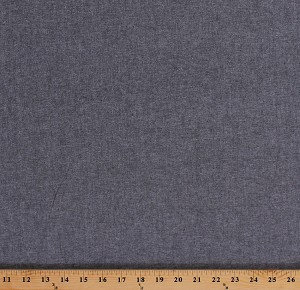 "60"" Chambray Shirting Black and White Lightweight Woven Summer Weight Fabric by the Yard (5207S-1B)"