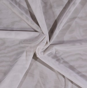 "60"" Power Mesh White Nylon Spandex Mesh Fabric by the Yard (5278C-3B-white)"