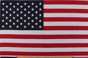 "35.5"" x 60"" Poly/Cotton Panel American Flag Banner United States USA Patriotic Sturdy Fabric Panel (1405-61097-R)"