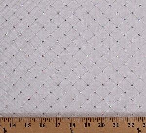"58"" Off-White Washable Stitched Sequin Taffeta Lattice Pattern Irridescent Bridal Fabric by the Yard (D249.06)"