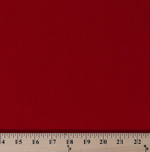 "Red Corduroy Medium Wale 60"" Wide Cotton/Polyester Fabric by the Yard (D254.22)"