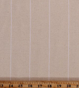 "Woven Pinstripe Monk's Cloth Needlepoint Needlecraft Natural with White Stripe 60"" Wide Cotton Fabric by the Yard (WR7-7785-0140)"