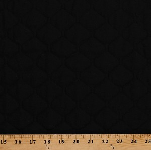 "42"" Single Face Black Quilted Fabric by the Yard (262-004)"