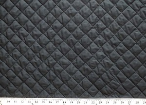 Double-faced Reversible Pre-quilted Black PolyCotton Fabric By the Yard D270.02