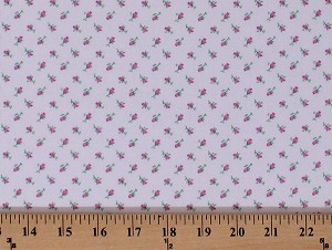 "44"" Flannel Tiny Floral Pink Flowers on Off-White Cotton Flannel Fabric Print by the Yard (753-P)"