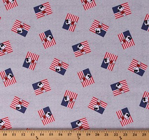 Cotton Snoopy Joe Cool Patriotic USA United States of America Fourth fo July Cotton Fabric Print by the Yard (71043-R320710)