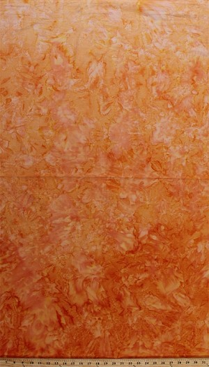 Cotton Batik Orange Ombre Gradations Variations Mottled Style Hand Painted Batik Cotton Fabric Print by the Yard (851-JULY-592)