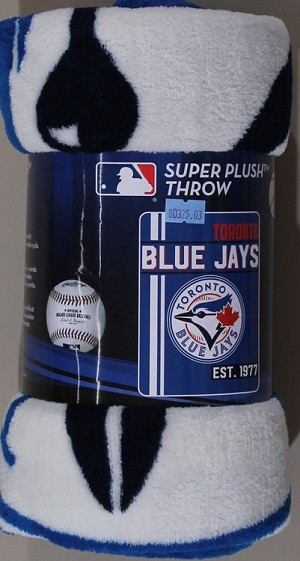 Toronto Blue Jays MLB Sports Baseball Team 46x60 Micro Raschel Fabric Throw