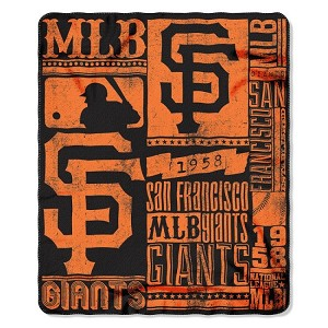 San Francisco Giants MLB Baseball Sports Team 50x60 Fleece Fabric Throw