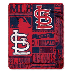 St. Louis Cardinals MLB Baseball Sports Team 50x60 Fleece Fabric Throw