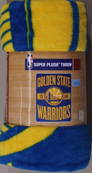 Golden State Warriors NBA Basketball Sports Team 46x60 Micro Raschel Fabric Throw