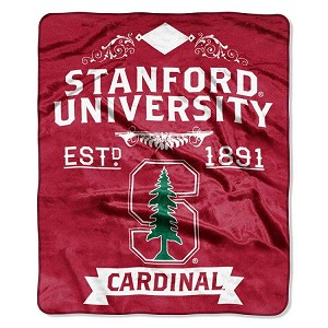 "Stanford University Cardinals College 50"" X 60"" Royal Plush Raschel Throw Blanket"