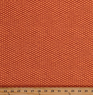 Cotton Scales Orange Fish Scales Reef Nautical Shapes Pentagons Geometric Patterned Cotton Fabric Print by the Yard (AZH-16973-146-MANGO)