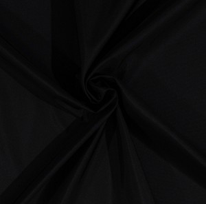 "62"" Easy-Care Washable Black Polyester Taffeta Fabric by the Yard (9204L-4I)"