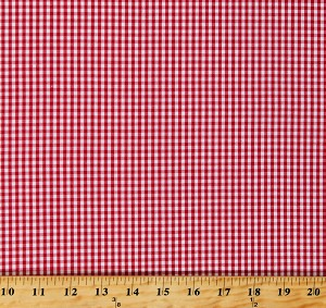"60"" Cotton Red Gingham Checks Checkers Checkered Squares Cotton Fabric Print By the Yard (Z-5M)"