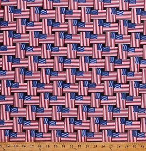Cotton American Flag America Patriotic Freedom Cotton Fabric Print by the Yard (8695D-9D)