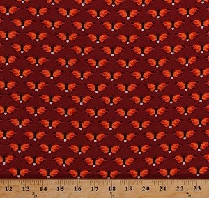 Cotton Fireflies Firefly Allover Lightning Bugs Bugs Insects Nature Red Orange Pacific Cotton Fabric Print by the Yard (AZH-16225-101-FLAME)