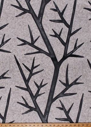"62"" Skyline Snow Twill Camouflage Tree Leafless Branches Thorns Camo Fabric By the Yard (6649)"