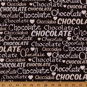 Cotton Oh Fudge! Chocolate Brown Candy Food Sweets Cotton Fabric Print by Yard (08353-77)
