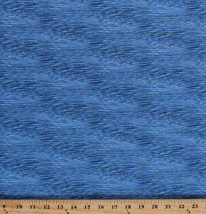 Cotton Lake Calm Water Waves Ripples Ocean Sea Nautical Landscape Scenic Medley Blue Cotton Fabric Print by the Yard (528-lake)