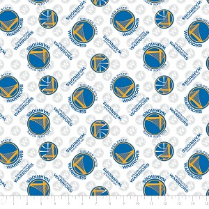 Cotton Golden State Warriors NBA Pro Basketball Sports Team Cotton Fabric Print by the Yard (83gsw0002s)