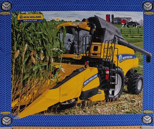 35' X 44' Panel New Holland Combine CR7090 Agriculture Tractor Farming Farmer Farm Country Cotton Fabric Panel (10057)