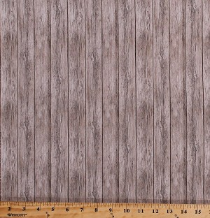 Cotton Barn Wood Wooden Boards Floorboards Planks Timber Lumber Building Houses Wall Carpenter Carpentry Naturescapes Cotton Fabric Print by the Yard (21406-34)