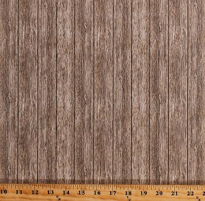 Cotton Barn Wood Wooden Boards Beige Floorboards Planks Timber Lumber Building Houses Wall Carpenter Carpentry Naturescapes Cotton Fabric Print by the Yard (21406-34)