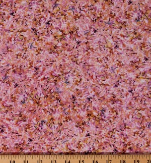 Cotton Landscape Impressionism Oil Brushstrokes Painting Look Claude Monet Pink Cotton Fabric Print by the Yard (SRK-17080-234-WISTERIA)