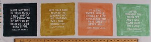 "12"" X 44"" Panel Inspirational Sayings Famous Quotes Words Authors Home Cotton Fabric Panel (36057-11)"