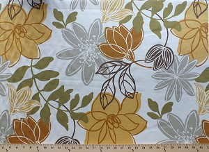 "54"" Decorator Weight Monaco Dune Yellow Floral Flowers Leaves Home Decor Upholstery Fabric by the Yard (D791.36)"
