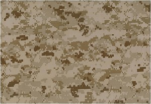 (If you are interested, join our Waiting List: We haven't been able to find more of this fabric, but we are constantly checking) United States Marines 50% Nylon 50% Cotton Marine Corp Desert Tan Digital Camouflage Fabric