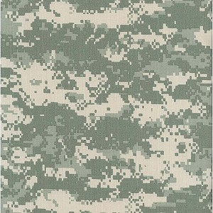 United States Army 50% Cotton 50% Nylon Digital Camouflage Ripstop Fabric (5002F-4K)