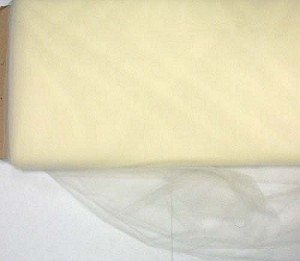 "54"" Tulle Ivory Illusion Netting Fabric by the Yard (6376E-9G - 54in)"
