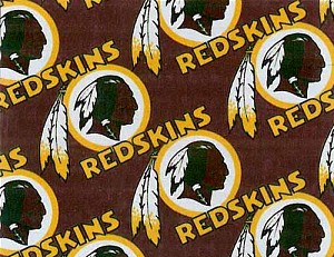 Cotton Washington Redskins NFL Pro Football Cotton Fabric Print