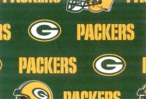 Cotton Green Bay Packers NFL Pro Football Cotton Fabric Print