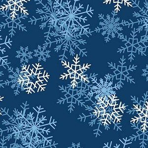 blizzard dark blue snowflakes fleece fabric print by the yard o22359 3b