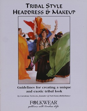 Folkwear American Tribal Style Dance Headdress Turban & Stage Makeup Booklet Instructional Guide Pamphlet