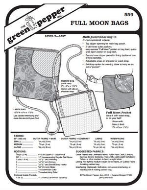 Full Moon Bag Purse #559 Sewing Pattern (Pattern Only)