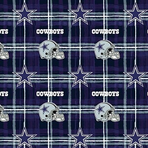 Flannel Dallas Cowboys NFL Professional Football Sports Team Flannel Fabric Print (L6425D)