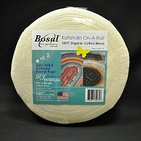"Batting - Bosal Katahdin On-A-Roll 2.25"" wide Pre-Cut Lightweight Jelly Roll Rug Batting 100% Organic Cotton Blend - Sold by the 50 Yard Roll (390K-50) M224.05"