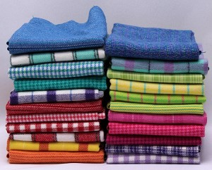 10 Assorted Flannel Fat Quarters - Color Crush Plaids Stripes Hounds-tooth Bright Plush Yarn-dyed Flannel Fat Quarter Bundle M225.01