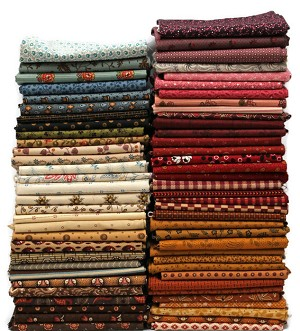 10 Fat Quarters - American Civil War Reproduction Fabrics Quality Quilters Cotton Assorted Fat Quarters M228.01