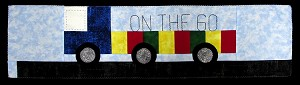 "Row by Row 2017 ""On the Go"" Semi-truck Trailer Vehicles Fabric Quilting Kit & Pattern - Sold by the Kit M401.06 (Walker)"