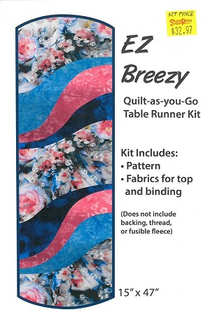 "Quilt Kit - EZ Breezy 15"" x 47"" Quilt-as-you-Go Table Runner Kit - Sold by the Kit (M412.04)"